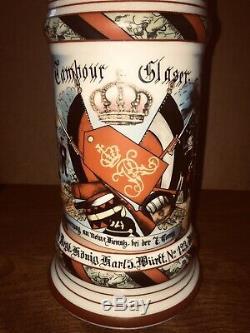 Lot Of 5 Vintage German Regimental Beer Steins Lithopane On 3