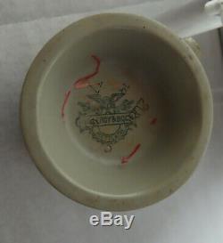 METTLACH(VILLEROY & BOCH) GERMAN BEER STEIN SIGNED # 2086 ca. 1900. 1/4 L