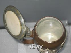 METTLACH (VILLEROY & BOCH) GERMAN BEER STEIN SIGNED # 2942 ca. 1895