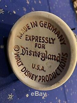 MINT Condition Vintage 1956 Disneyland Antique German Beer Stein withPewter Lid