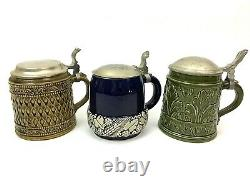 Marzi & Remy Art Deco German Beer Stein Group Lot of 3 tankards decor gift decor