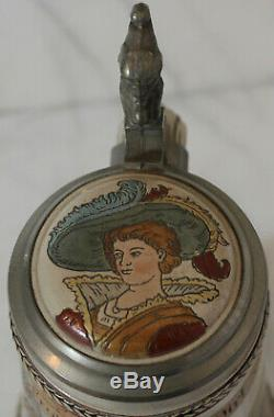 Marzi & Remy Wedding March German 1/2L beer stein Antique # 1637