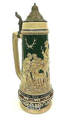 Matthias Girmscheid 896 German Beer Stein Tankard In the Mountain Tavern 2L GIFT