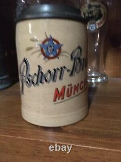 Merkelbach & Wick Pschorr Brau Munich Munchen German Beer Stein Antique Must See