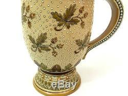 Mettlach 1288 Antique German Beer Stein. 5L Art Deco Gift Hops Pattern Very Nice