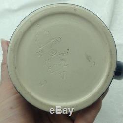 Mettlach 2052 German Lidded Beer Stein Cherub Monk Hobby Horse 1/4 L