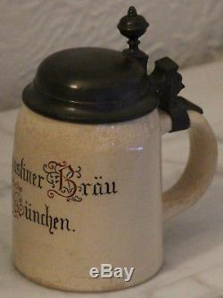 Mettlach 3/10L Augustiner Bräu München German beer stein mold # 1526 brewery
