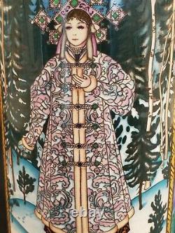 Mettlach German Beer Stein 1526 Snow Maiden Fairy Tale Villeroy & Boch COA