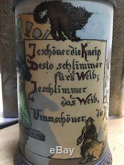 Mettlach Steins #2090 1 L Man in a tavern German Beer Stein