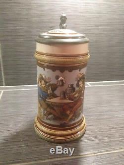 Mettlach Steins #2231 1/2 L Landesknecht German Beer Stein