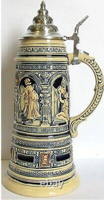 Old Style Drinking Scenes LE German Beer Stein 1 L Made in Germany One Liter