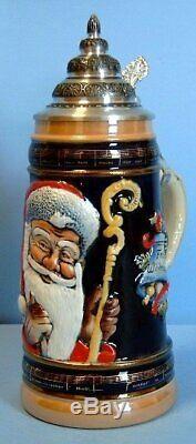 Old World Santa LE German Christmas Beer Stein. 5L Made in Germany Mug