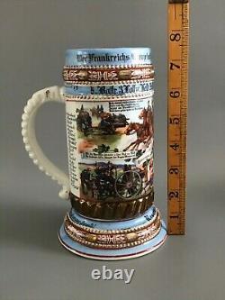 Orig. Imperial German WWI 69th Field Artillery Beer Stein / Pickelhaube