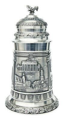 Pewter Beer Stein Austria 32oz Artina #10350 Deutschland German Landmarks NEW