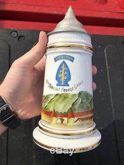 Pre Vietnam 10th Special Forces Group Bad Tölz Hand Painted Beer Stein German