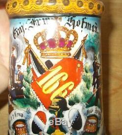 Pre WWI German Army Infantry Beer Stein One Year Volunteer