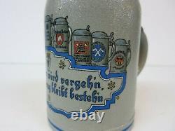 Pschorr Wagner Augustiner Lowenbrau Franziskaner Bräu München German Beer Stein
