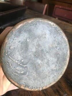 RARE Antique Copper Clad Bronzed German Beer Stein Mug GNOMES Motto 1 L exc NR