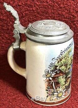 Rare 1911 Merkelbach & Wick German Beer Stein 1881-1906 Grundzings Fest