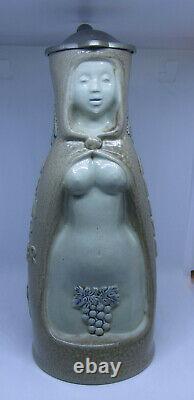 Rare 1950's King #288 Vintage Nude Lady Wine Witch Weinhex German Beer Stein