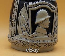 Regimental Reservisten Beer Stein antique German Infantry Marzi Remy 2871 named