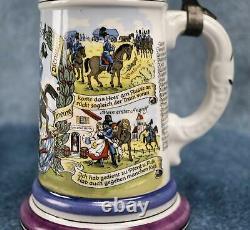 Regimental ceramic Cavalry Imperial German WW1 antique beer mug stein WWII old