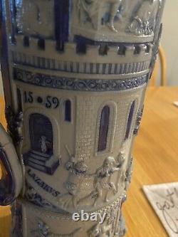 Reinhold Hanke Lazarus Antique German Beer Stein. 5L #330