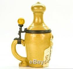 Schierholz & Sohn Antique Character German Lithophane Beer Stein Bowling Pin