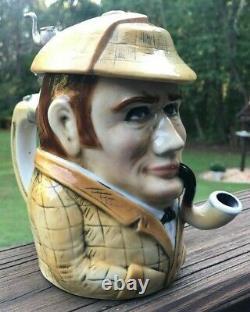 Sherlock Holmes Figural German (albert Stahl & Co.) Lidded Beer Stein