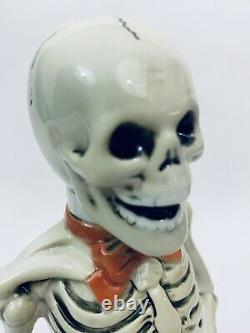 Stahl Vintage Character German Beer Stein Skeleton on a Barrel Gift Figural Keg