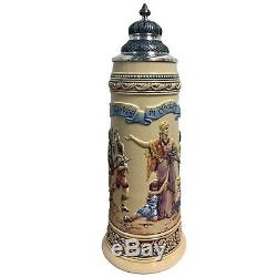 The Fatherland in Danger Relief Limitaet LE German Beer Stein 3 L Made Germany