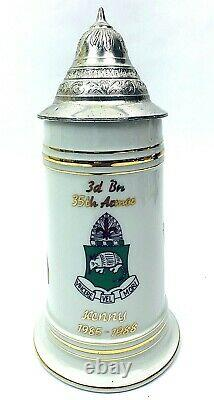 US Army Cold War German Beer Stein 3rd BN 35th Armored Regiment 1st Armored div