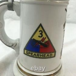 US Army Cold War German Beer Stein 48th Infantry Regiment Dragoons Spearhead