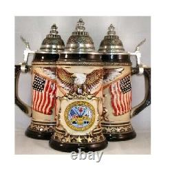 US Army Rustic German Beer Stein. 75L One New Mug Made in Germany Vet Gift