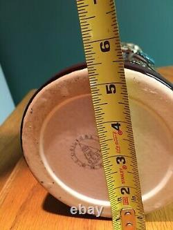 Unique Brown Werz German Beer Stein WithPewter Lid 16 Tall 5 1/4 Diameter