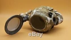 Unknown Maker antique Character German Beer Stein fraternity Skull & Bones WWII
