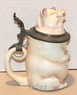 VINTAGE & RARE PIG by MUSTERSCHUTZ 1/2 LITER GERMAN BEER STEIN