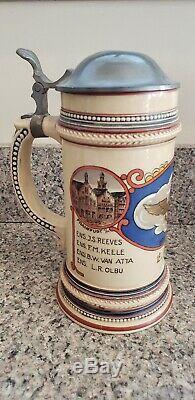 VINTAGE World War II WW2 Service Members German Beer Steins Lot of 2 NEW