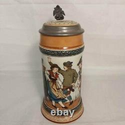 Villeroy Boch Mettlach German Beer Stein #1655 Young People Dancing Bavarian