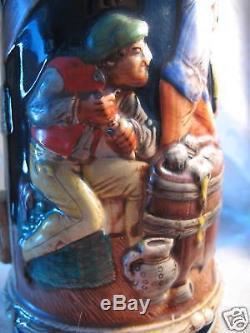 Vintage 13 Gerz German Hand Painted Beer Stein