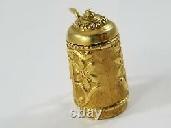 Vintage 14K Gold MUNICH GERMAN BEER STEIN Charm/Pendant LID OPENS