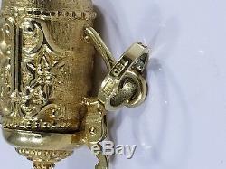 Vintage 18K Gold GERMAN BEER STEIN CHARM PENDANT OPENS EUROPEAN