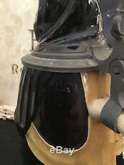 Vintage Antique Reinemann Character German Beer Stein Hinged Lid Castle Monk
