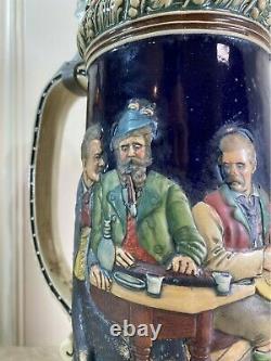 Vintage GERMAN Beer Steins Western GERMANY ORIGINAL Lidded Lot of 7