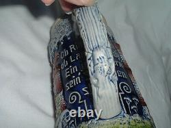 Vintage German Knights Lidded Ceramic Beer Stein Military with Castle Very Tall