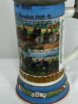 Vintage German Military Regimental Beer Stein