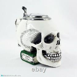 Vintage German Skull Beer Stein Mug Ernst Bohne Söhne #9136 Rare Item