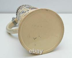 Vintage Large 3L Pewter Lid German Beer Stein