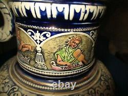 Vintage Large German Beer Stein Pitcher