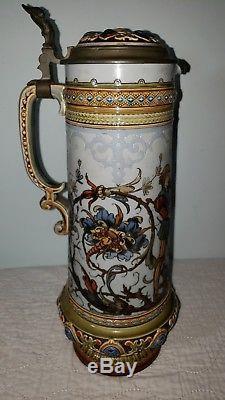 Vintage Mettlach Villeroy & Boch #1734 1.4L German Beer Stein